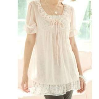 $3 incl postage BRAND NEW Pink Lace Chiffon Blouse with Tags Women Top Ladies