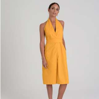 Stunning Halter Dress - Yellow