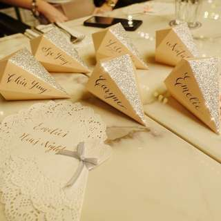 Handwritten copperplate calligraphy - NameCard / PlaceCard
