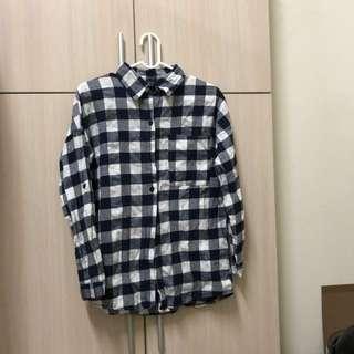 🚚 藍白格子襯衫