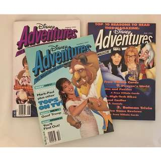 Vintage Disney Adventures Magazines (Set of 5)