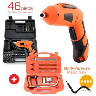 Cordless screww driver and hand saw tool