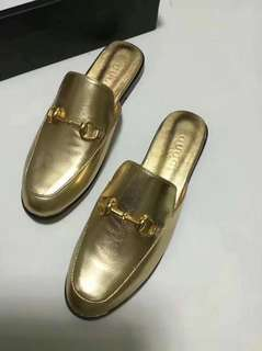 Leather Princetown Slippers gucci