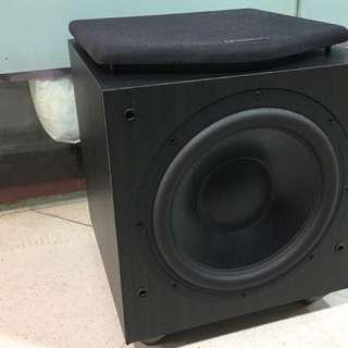 英國名廠Mission超級重量低音10吋