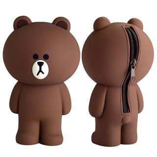 可愛布朗熊筆袋