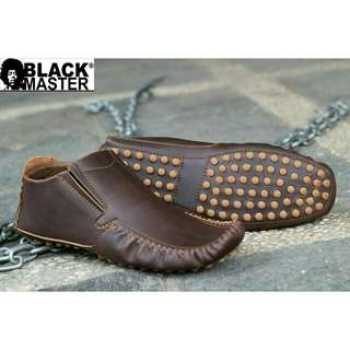"Black master""shoes leather """