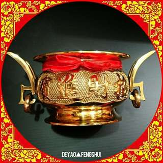 ▲BN Auspicious Religious Golden Incense Copper Burner▲