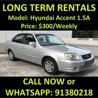 Hyundai Accent Long Term $300 Weekly