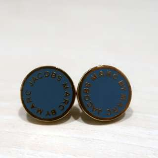 Marc by Marc Jacobs Logo Disc Stud Earring
