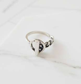 925 silver chain buckle ring