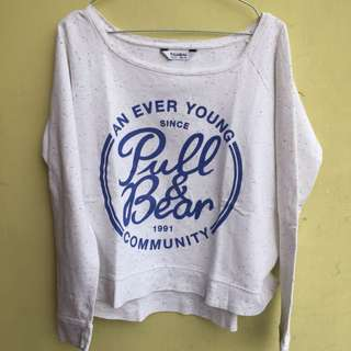 sweater pull & bear cropped
