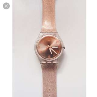 Rose Gold Glitter Watch