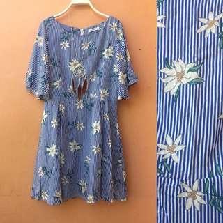 Stripy Flower Dress