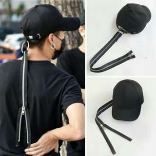 PROMO Topi - G Dragon Letter Zipper Baseball