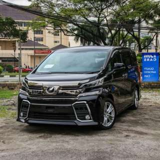 IMPORT CBU TOYOTA VELLFIRE 2.5ZA EDITION 2015 UNREGISTERED BLACK