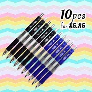 10 for $5.85 JEL Retractable Premium Gel Ink Pens