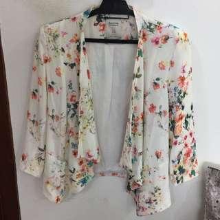 Bershka Floral Blazer