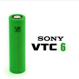 (In-stock) SONY VTC6 18650 Li-ion Rechargable Battery - 3,000 mAh & 30A