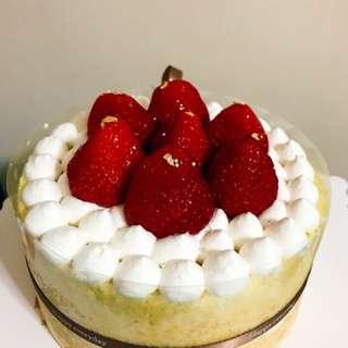 士多啤梨裸蛋糕
