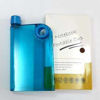 Notebook water bottle (non-toxic plastic)