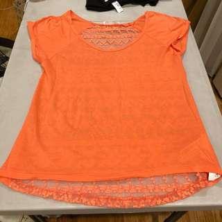 Zara lace see thru back top