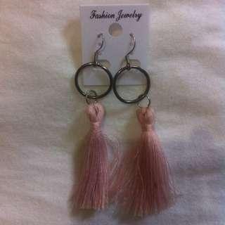 Earring Tassel Pink