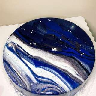 銀河 鏡面蛋糕