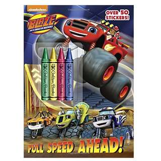 BN Book: Full Speed Ahead! (Blaze and the Monster Machines) Coloring Book with Chunky Crayons
