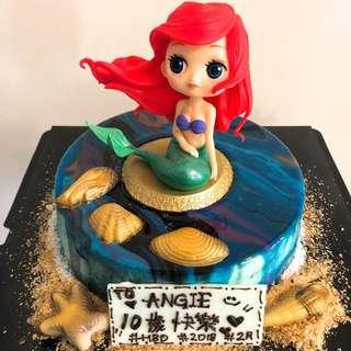 美人魚 鏡面蛋糕