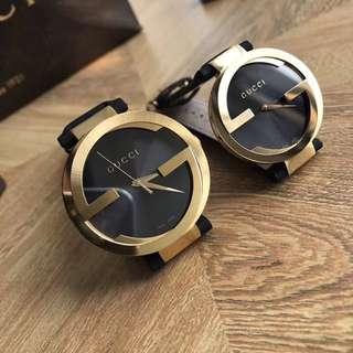 Gucci雙G👫情侶錶大喇叭款