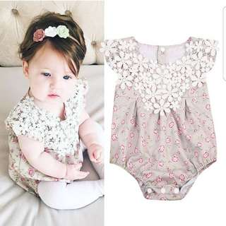 ❤INSTOCK❤ Lily's Lace Baby Romper