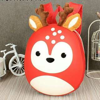 RANSEL CUTE MOTIF RUSA UK(24x6x22) READY 4 COLOR