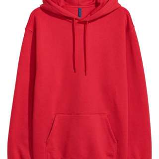 H&M red hoodie Size S