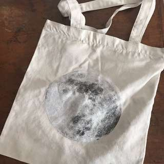 Moon canvas tote