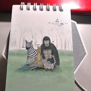 森林王國線圈小筆記本
