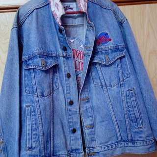 Vintage 90s Planet Hollywood Denim Jacket