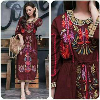 dress premium izuka maroon
