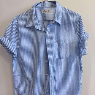 HOLLISTER Button Up T Shirt