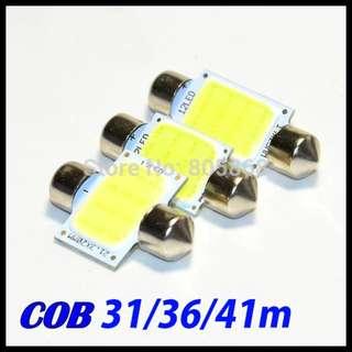 2PC 12V Mini Festoon COB 12 Chips LED Car Dome Reading Lights Car Lighting