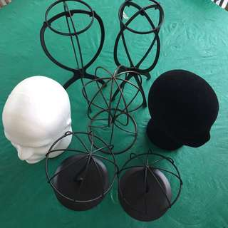 Hat and wig stands