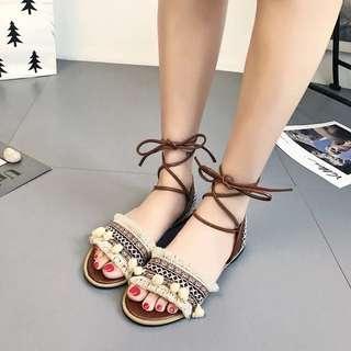 Bohemian Roma single Strap sandals