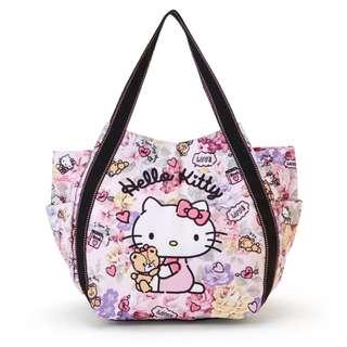 Japan Sanrio Hello Kitty Print Tote Bag (Floral)