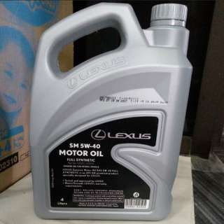 Lexus engine oil