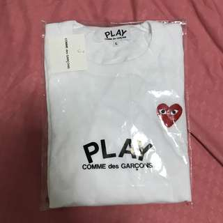 CDG PLAY Heart Long Sleeve Tee