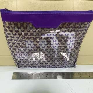 Changi Rewards Toiletries Bag Purple Butterfly
