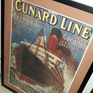 Cunard line posters professionally framed