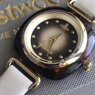 Vivienne Westwood 小巧土星石英女錶 秒針丘比特之箭