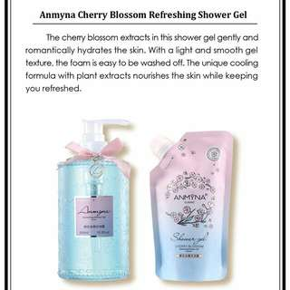 Anmyna Cherry Blossom Refreshing Shower Gel (Free Refill Pack 300ml)