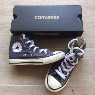 Converse Youth/Kids High-Cut Sneakers - Navy