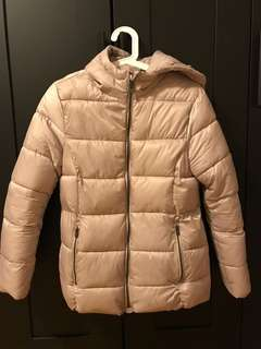 Zara Puffer jacket with removable fur